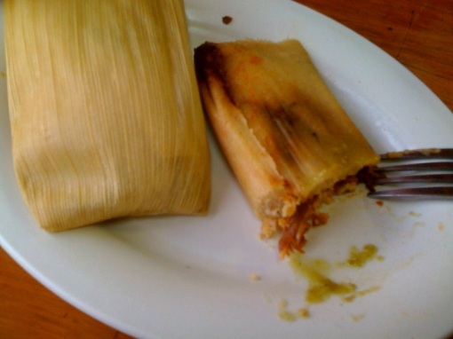 This photo does not do the tamales justice. I blame the photographer.